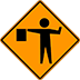 Flagger Signs Flaggers Ahead Stop Sign Reflective Traffic Control Signs Houston