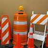 houston barricades traffic control rental signs rent barricades houston traffic cones safety cones reflective channelizers