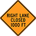 Right Lane Closed Signs Houston Barricades Rent Traffic Control Street Signs