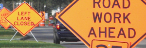Rent Traffic Control Houston Barricades Reflective Street Cones Signs TMA Water Filled Barriers