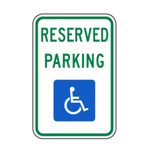 ada handicapped parking signs handicap sign reserved parking van accessible houston