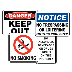 private property sign no tresspassing danger keep out signs no smoking sign houston