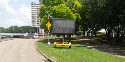 Portable Electronic Message Boards Houston Electronic Message Sign Rental